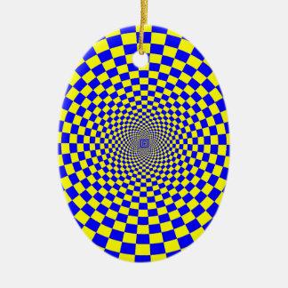 Hypnotische optische Täuschung Keramik Ornament