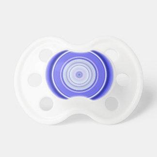 Hypnotischer Kreis-blaues Weiß Schnuller