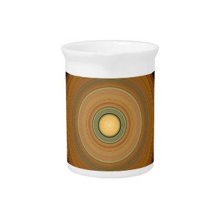Hypnotischer Kreis Brown Krug