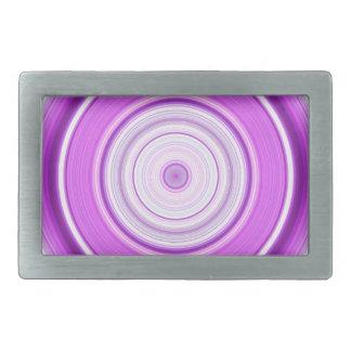 Hypnotischer Kreis lila Rechteckige Gürtelschnalle