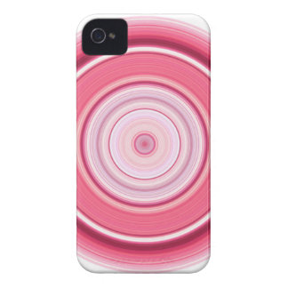 Hypnotischer Kreis-pinkfarbenes Weiß Case-Mate iPhone 4 Hülle