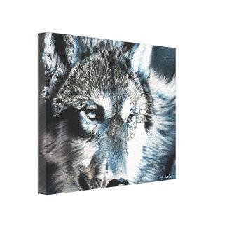 Hypnotischer Wolf-Leinwand-Druck Leinwanddruck