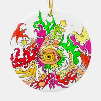 Hypnotisches Auge Keramik Ornament