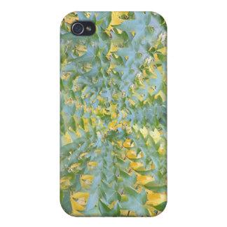 Hypnotisches Blätter iPhone 4 Etui