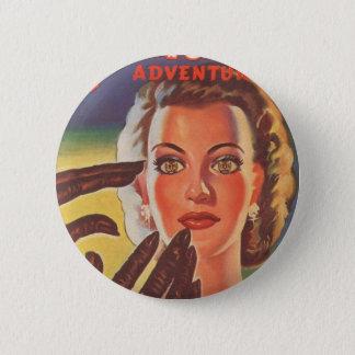 Hypnotisches brünettes runder button 5,1 cm