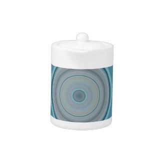 Hypnotisches Kreis-Aqua-Weiß