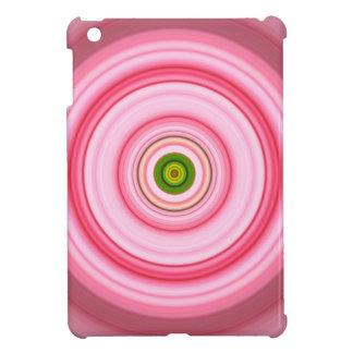 Hypnotisches Kreis-Fuchsien-Grün iPad Mini Hüllen