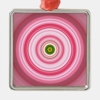 Hypnotisches Kreis-Fuchsien-Grün Silbernes Ornament