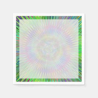 Hypnotisches Stern-Explosions-Fraktal Papierserviette
