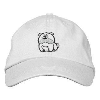 Hypnotisierender Bulldogge gestickter Hut Bestickte Mütze
