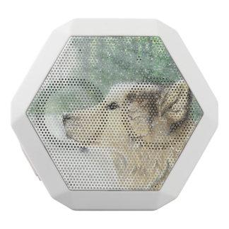 Hypnotisierter Wolf-Lautsprecher Weiße Bluetooth Lautsprecher