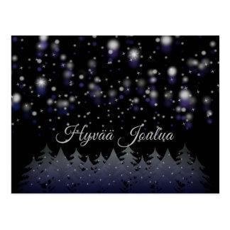 Hyvää Joulua finnischer Weihnachtssternenklare Postkarte