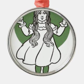 i027_edit Zauberer Rundes Silberfarbenes Ornament