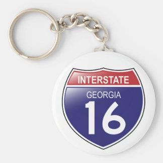 I-16 Georgia Keychain Schlüsselanhänger