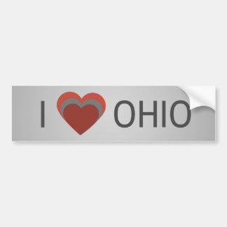 I <3 (Herz) Ohio Autoaufkleber