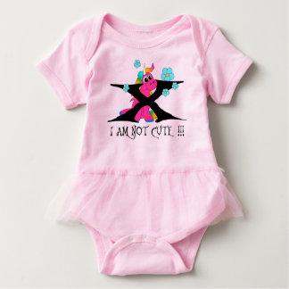 i am not cute! baby strampler