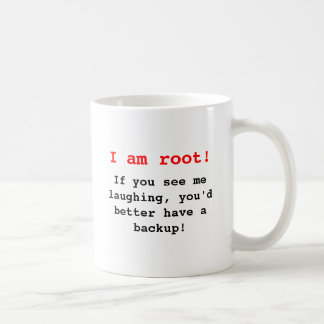 I am root! kaffeetasse