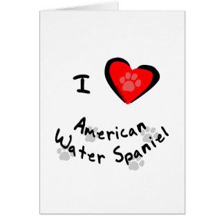 I amerikanische Wasser-Spaniels des Herz-(Liebe) Karte