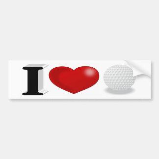 I Autoaufkleber des Liebe-Golf-3D