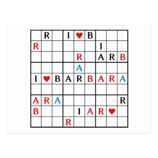 I♥BARBARA POSTKARTE