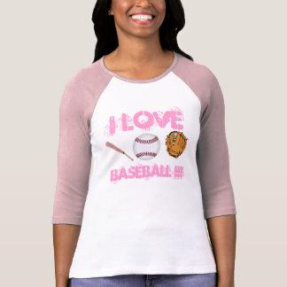 I Baseball-T - Shirt DER LIEBE-BASEBALL-Frauen