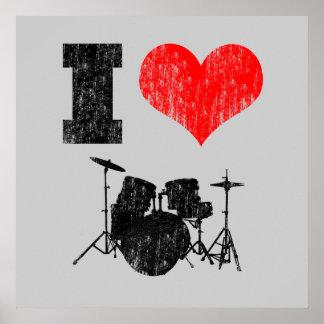 I beunruhigten Liebe-Trommeln Plakat