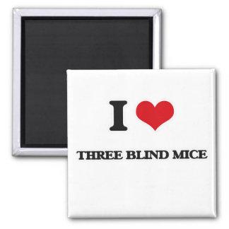 I blinde Mäuse der Liebe-drei Quadratischer Magnet