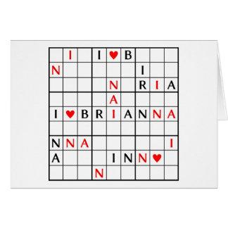 I♥BRIANNA KARTE