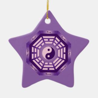 I Ching Yin Yang Keramik Stern-Ornament