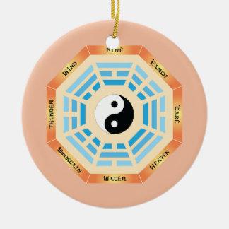 I Ching Yin Yang Rundes Keramik Ornament