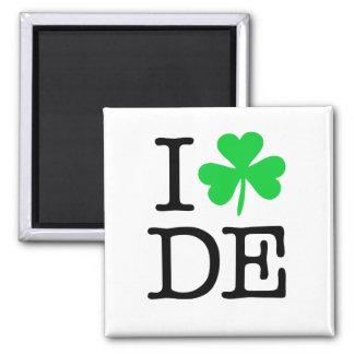 I Delaware De des Kleeblatt-(Liebe-Herz) Quadratischer Magnet