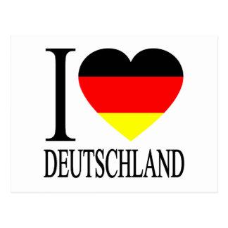 I deutsches Flaggen-Herz LiebeDeutschland Postkarte