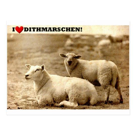 I ♥ Dithmarschen! Postkarte