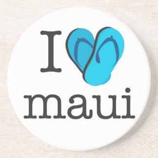 I drehen Herz Maui Reinfälle um Getränkeuntersetzer
