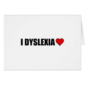 I Dyslexie-Liebe-Herz Karte