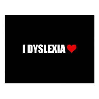 I Dyslexie-Liebe-Herz Postkarte