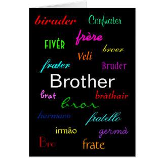"""I eines Bruders Karte des Geburtstags-"" -"