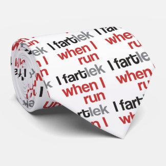 I FARTlek, wenn ich © - lustigen Läufer laufen Krawatte