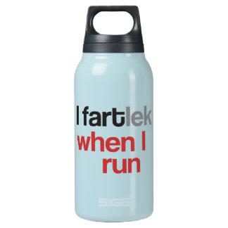 I FARTlek, wenn ich © - lustiges FARTlek laufen Isolierte Flasche