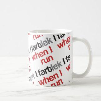 I FARTlek, wenn ich © - lustiges FARTlek laufen Tasse