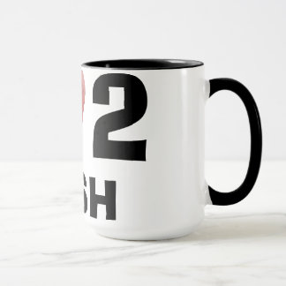 I Fisch-Kaffee-Tasse der Liebe-2 Tasse