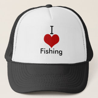 I Fischerei der Liebe-(Herz) Truckerkappe