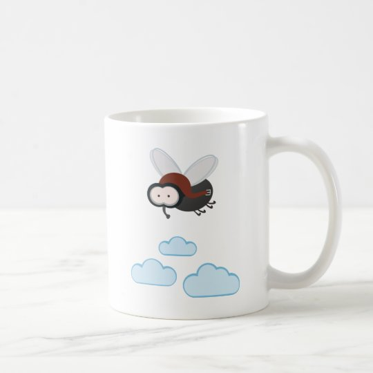 I fly so high - Puck die Stubenfliege Kaffeetasse