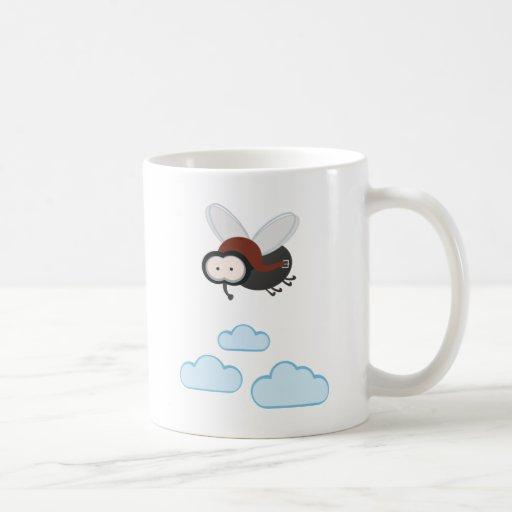 I fly so high - Puck die Stubenfliege Kaffeehaferl