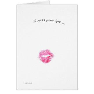 I Fräulein Your Lips Karte