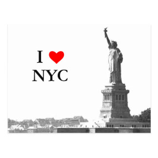 I Freiheitsstatue der Liebe-NYC Vintage Gewohnheit Postkarte
