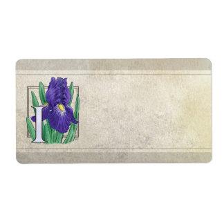 I für Iris-Blumen-Monogramm