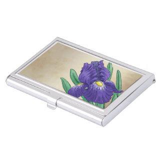 I für Iris-Blumen-Monogramm-Kunst Visitenkarten Etui