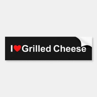 I gegrillter Käse der Liebe-(Herz) Autoaufkleber