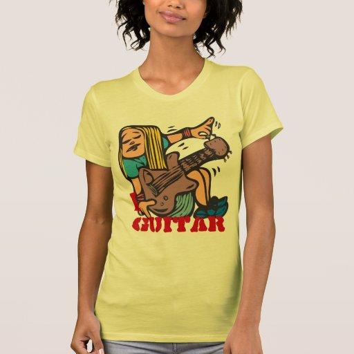 I Gitarre - abstimmende Gitarre des Spaß-Mädchen-G Hemd